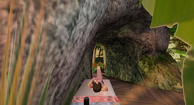 Digital Art - Garden Cave Lounging by Amy Bradley