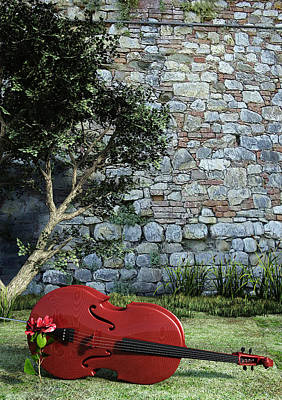 Violin Digital Art - Garden Cello by John Reed