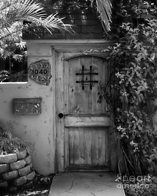 Stuco Photograph - Garden Doorway 2 by Perry Webster