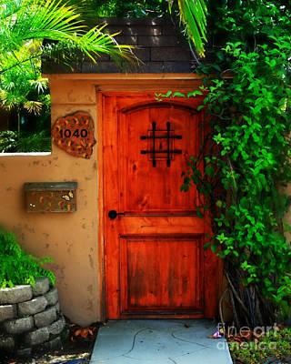 Stuco Photograph - Garden Doorway by Perry Webster