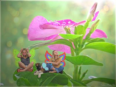 Photograph - Garden Fairy Friends by Debbie Portwood
