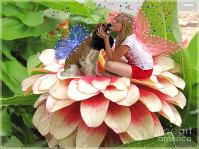 Zinna Photograph - Garden Fairy Friends  II by Debbie Portwood
