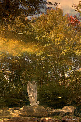 Rock Angels Mixed Media - Garden Filled With Gold by Debra     Vatalaro
