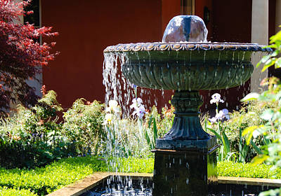 Photograph - Garden Fountain by Fran Woods