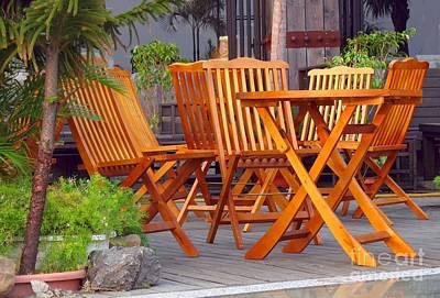 Garden Furniture Print by Yali Shi