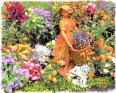 Garden Girl Art Print by Richard Stevens