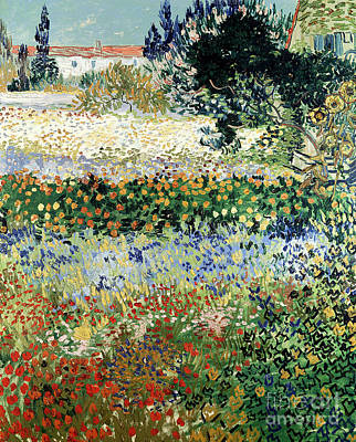 Snake Painting - Garden In Bloom by Vincent Van Gogh