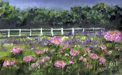 Garden In Vernfield Art Print
