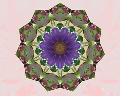Garden Mandala... Art Print by Rene Crystal