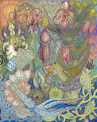 Garden Of Eden - Birds Art Print