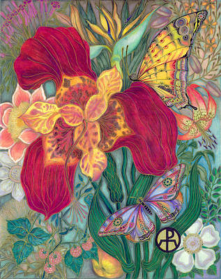 Painting - Garden Of Eden - Flower by Ellie Perla