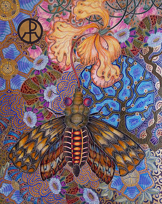 Painting - Garden Of Eden - Moth by Ellie Perla