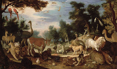 Wild Animals Painting - Garden Of Eden by Jacob Bouttats