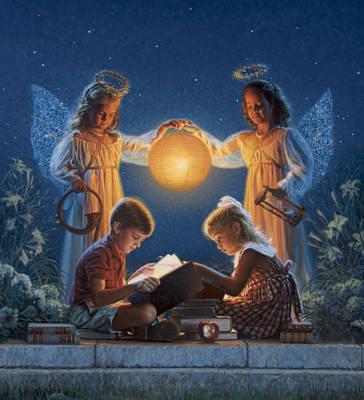 Innocent Angels Digital Art - Garden Of Light by Frank Morris