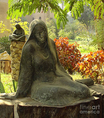Garden Of Statues Egypt Print by Mary Machare