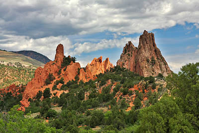 Garden Of The Gods - Colorado Springs Co Print by Christine Till