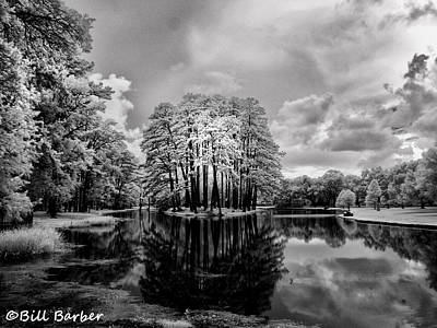 Photograph - Garden Pond - Infrared by Bill Barber