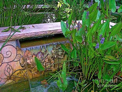 Digital Art - Garden Pond by Herb Paynter