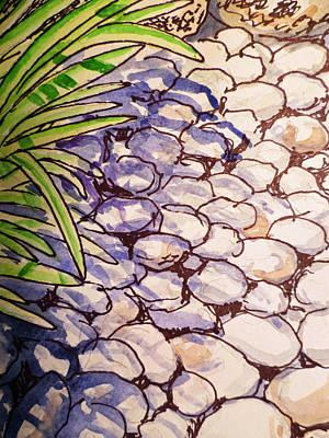 Garden Rocks Sketchbook Project Down My Street Art Print by Irina Sztukowski