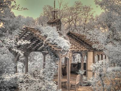 Infared Photograph - Garden Shed by Jane Linders