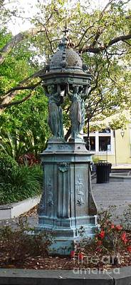 Art Print featuring the photograph Garden Statuary In The French Quarter by Alys Caviness-Gober