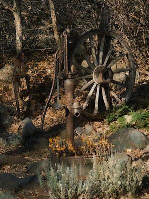 Wagon Wheels Digital Art - Garden Treasures by Ernie Echols