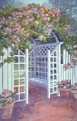Garden Trellis Art Print