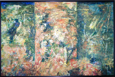 Painting - Garden Triptych by Charlie Harris