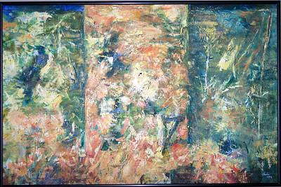 Garden Triptych Art Print by Charlie Harris