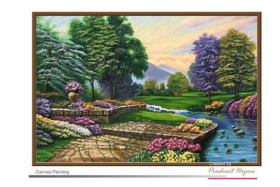 Garden View 2 Art Print by Prashant Hajare