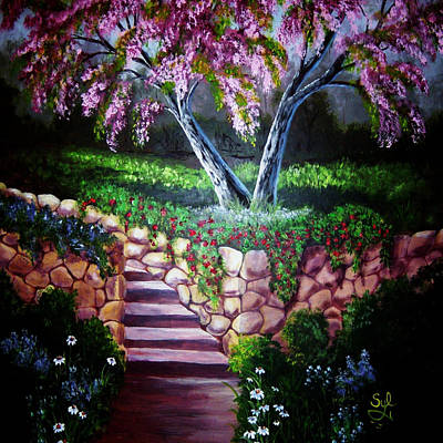 Stonewall Painting - Garden Wall by Sylvia Marks