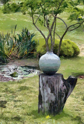 Digital Art - Garden Waterpot by Fran Woods