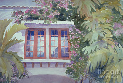 Painting - Garden Windows by Audrey Peaty