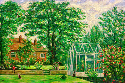 Sycamore Painting - Gardener's World by Ronald Haber