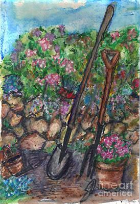 Stonewall Painting - Gardening Shovel by Debbie Wassmann