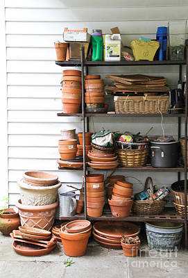 Photograph - Gardening Supplies by Photo Researchers Inc