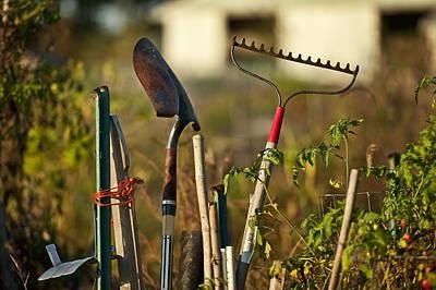 Gardening Tools Art Print by John Greim