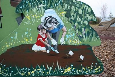 Gardening With Grandma Art Print