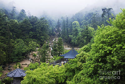 Miyajima Photograph - Gardens At A Mountain Shinto Temple by Jeremy Woodhouse