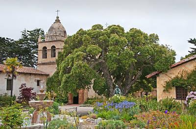 Gardens Of Carmel Mission Art Print by Kent Sorensen