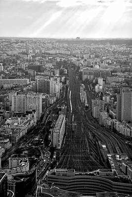 Photograph - Gare Montparnasse And Tracks by Van Corey