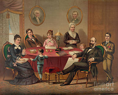 Harry James Photograph - Garfield: Family, C1881 by Granger