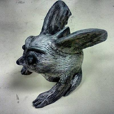Unique Wall Art - Photograph - Gargoyle In Clay by Stacy C Bottoms