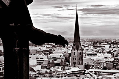 Photograph - Gargoyle Over Hamburg 2 by Edward Myers