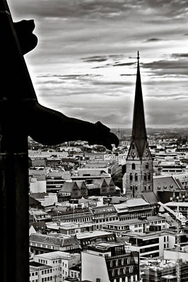 Photograph - Gargoyle Over Hamburg by Edward Myers