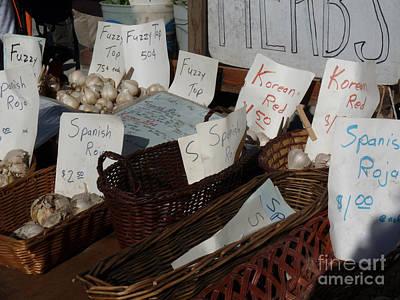 Photograph - Garlic For Sale by David Bearden