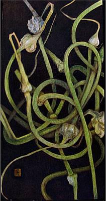 Pyrography Pyrography - Garlic Heads by Cynthia Adams