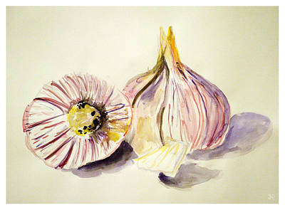 Painting - Garlic by Jim  Arnold
