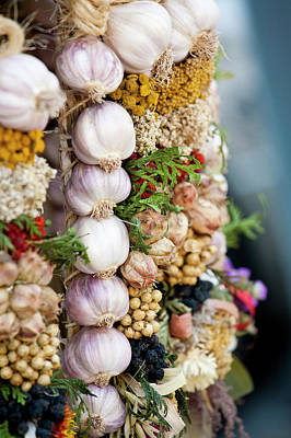 Photograph - Garlic On Ecological Market by Maciej Frolow