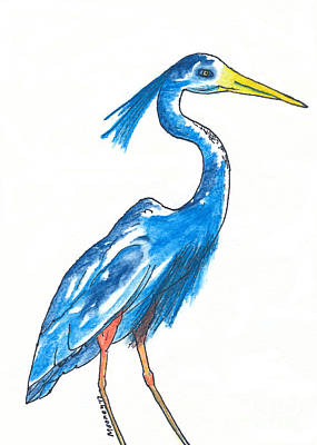 Garza Azul Art Print by Michael Mooney